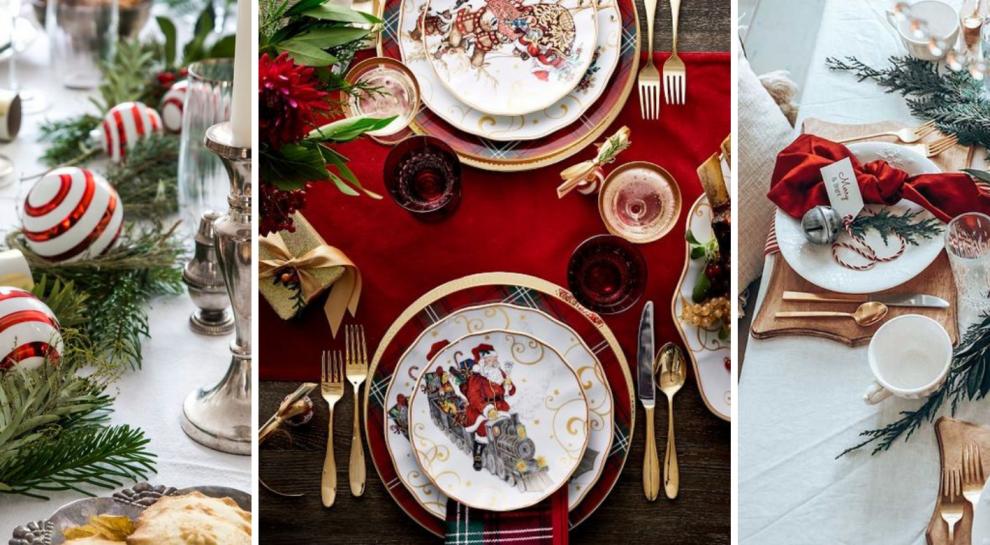 Ziemassvētku galda klājums!