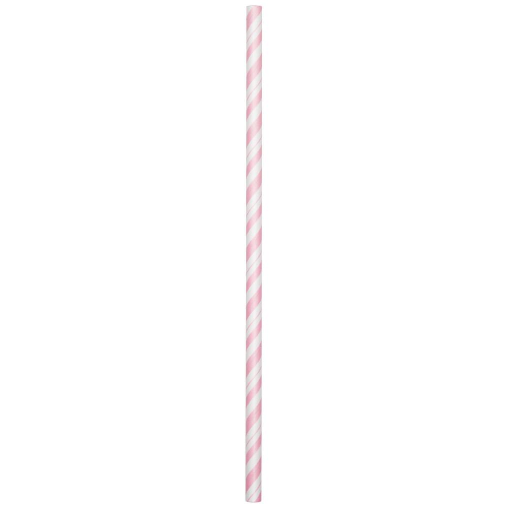 Salmiņi, maigi rozā strīpaini (24 gab)