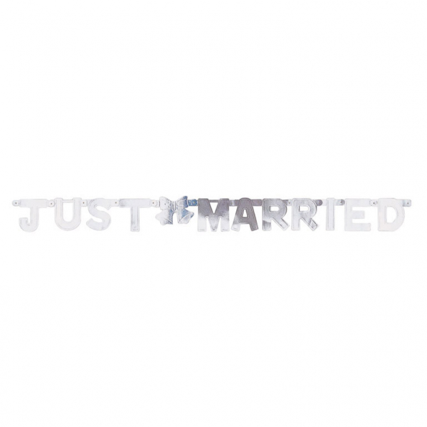 "Virtene ""Just married"" , sudraba (1,3 m)"