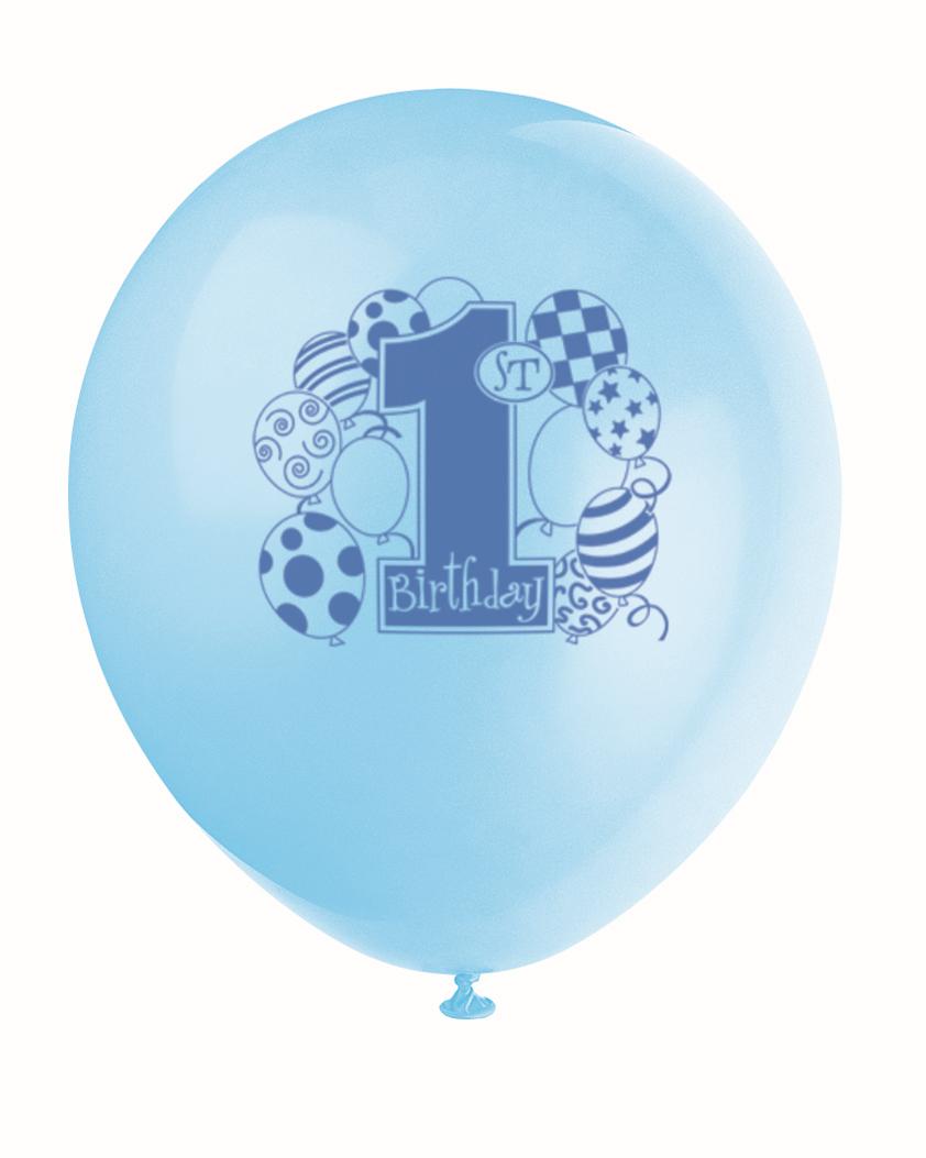 """Baloni """"1-ā puisēna dzimšanas diena"""" (8 gab)"""