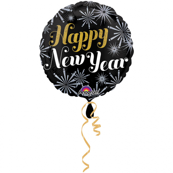 "Folija balons ""Happy New Year"" (45 cm)"