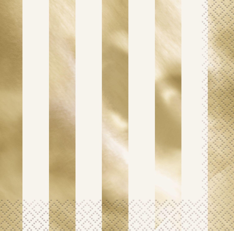 """Salvetes """"Zelta spīdums"""", svītrainas (16 gab)"""