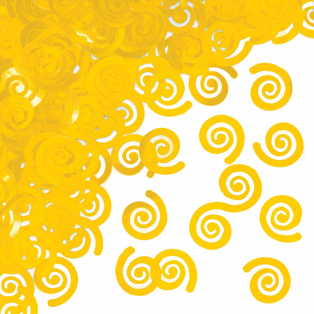 """Konfettī """"Dzelteni ruļļi"""""""