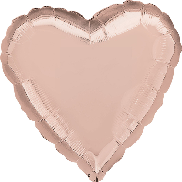 "Folija balons ""Rose gold-sirds"" (43 cm)"