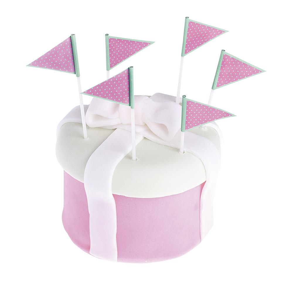 Irbulīši - rozā karodziņi,punktaini (25 gab)