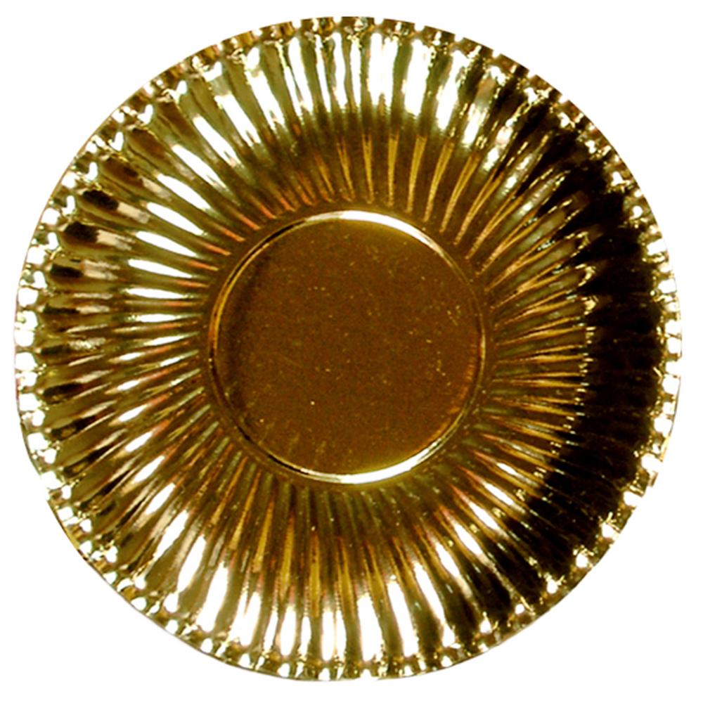Šķīvis-paliktnis, zelta (8gab/29cm)