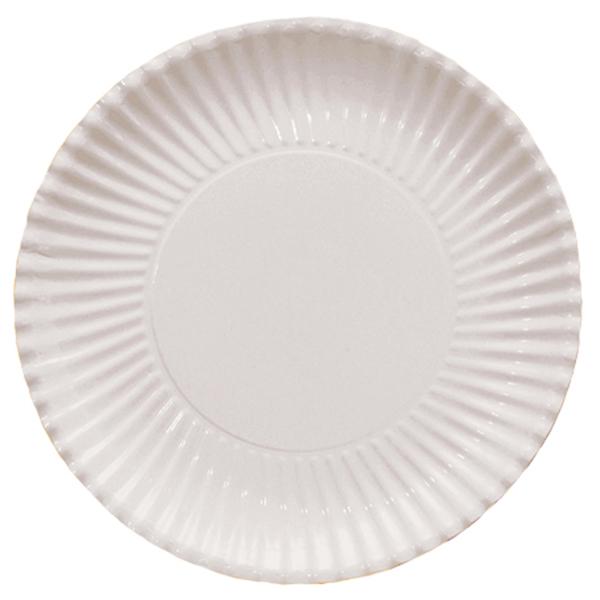 Šķīvīši-paliktņi, balti (8 gab/ 29 cm)