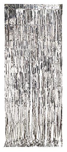 Sudraba folija aizkari (243 x 91 cm)