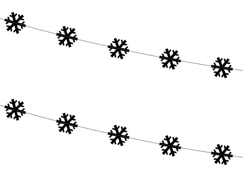 """Virtenes """"Melnas sniegpārsliņas"""" (2 gab/ 1,8 m)"""