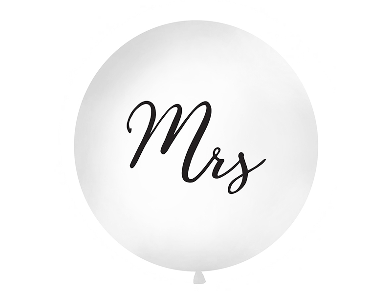 "Gigant balons ""Mrs"", balts (1 m)"
