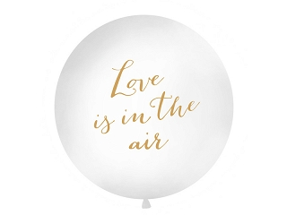 "Gigantbalons ""Love is in the air"", balts (1 m)"