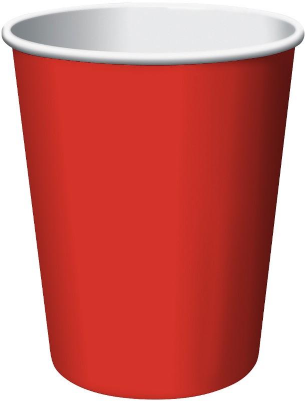 Glāzītes, sarkanas (24 gab/ 266 ml)