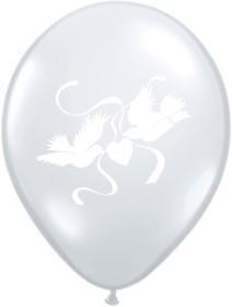 """Balons """"Dūjas"""" / balti (28 cm)"""