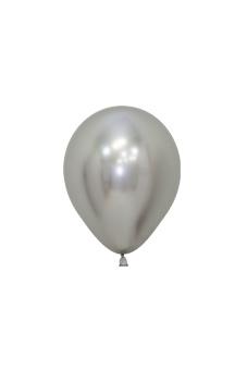 Balons, metalizēts sudraba (12 cm)