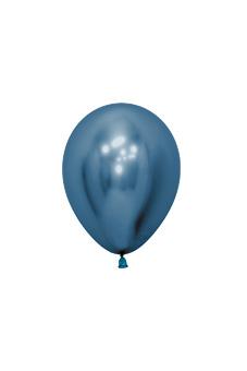 Balons, metalizēts zils(12 cm)