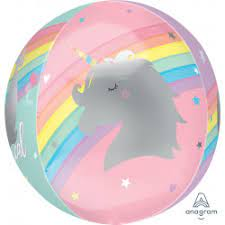 """Folija balons-orbz """"Maģiskais vienradzis"""" (38x40 cm)"""