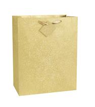 Dāvanu maisiņš, zelta spīdīgs (33x26 cm)