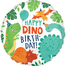 "Folija balons ""Happy Dino-birthday"" (43 cm)"