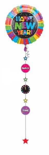 "Folija balons ""Happy New Year!"" (1gab./81cm)"