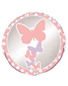 """Folija balons """"Pasteļtoņu taureņi"""" (45 cm)"""