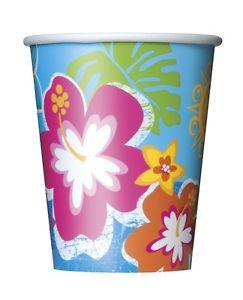 """Glāzītes """"Havaju ziedi"""" (8 gab/ 266 ml)"""