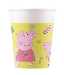 """Glāzītes  """"Peppa Pig"""" (8 gab ./200 ml)"""