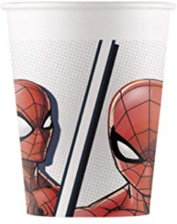"""Glāzītes """"Spider-Man"""", kompostējamas (8 gab/200 ml)"""