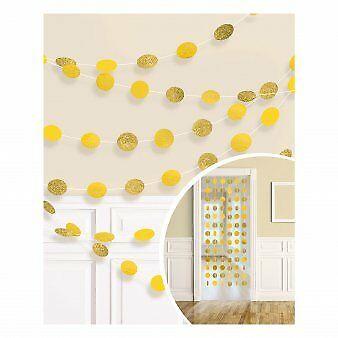 Karināmas dekorācijas, spīdīgas-dzeltenas (6 gab/ 2,13 m)