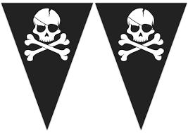 "Karodziņu virtene ""Galvaskausi"" (9 karodziņi)"