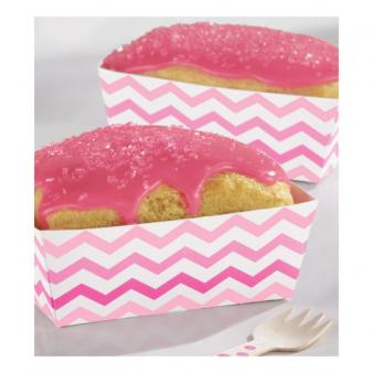 Kastītes uzkodām, rozā zigzagi (24 gab)