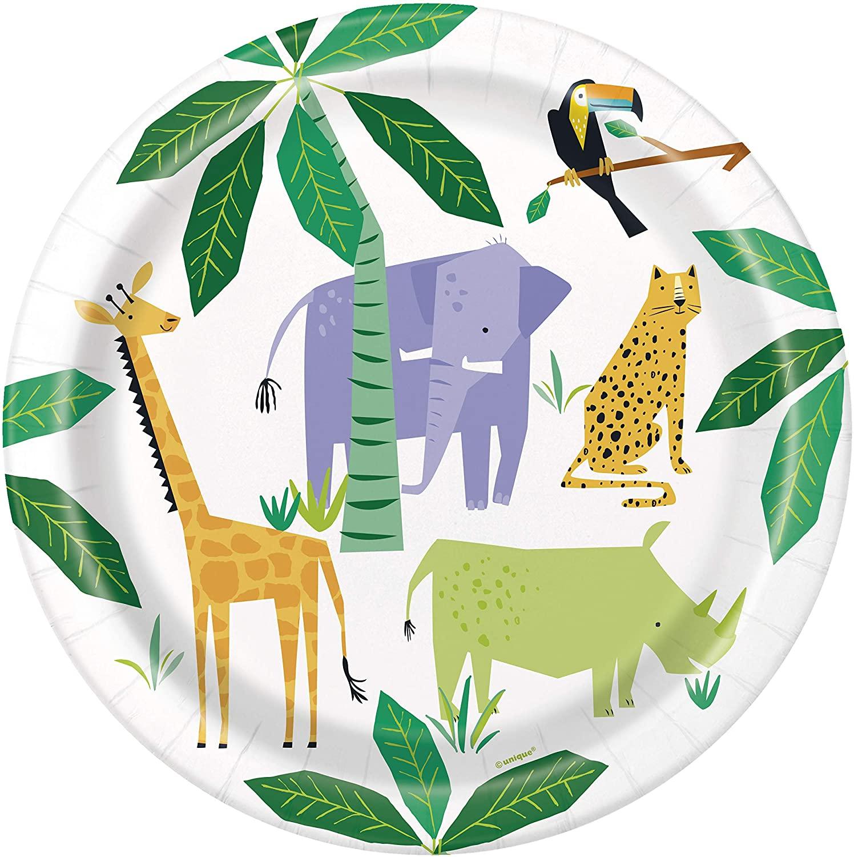 """Šķīvīši  """"Safari dzīvnieki"""" (8 gab. / 22 cm)"""