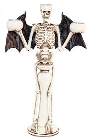 "Svečturis ""Skelet-Sikspārnis"" (31 cm)"