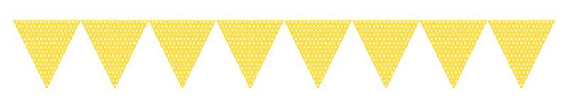 Флажки, светло-желтые в горошек  (2,74 m)