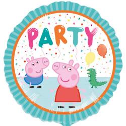 """Фольгированный шарик """"Peppa Pig party"""" (43 см)"""