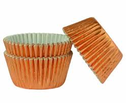 Формочки для выпечки, розовое золото -фольгирование (45 шт)