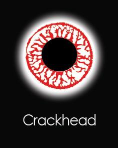 """Линзы для глаз """"CRACKHEAD"""" (1 день)"""