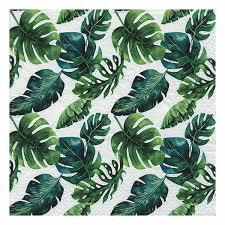"""Салфетки """"Листья джунглей"""" (20 шт)"""