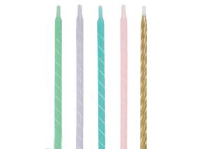 Свечи спирали, пастельных оттенков (12 шт)